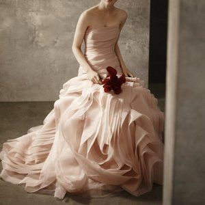 Blush Wedding Gown-White by Vera Wang